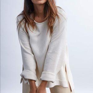 Jamie & the Jones Split Woven Sweater Small